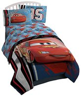 Disney Pixar Cars 95 Twin 3 Piece Blue Sheet Set with Lightning McQueen (Official Pixar Product)