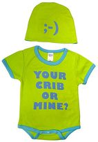 "Sozo Baby Your Crib or Mine?"" Bodysuit Set"