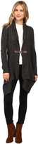 Christin Michaels Brilliant Cut Buckle Cardigan