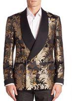 Ralph Lauren Purple Label Shawl-Collar Silk Formal Jacket