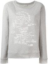 Closed doodle print sweatshirt
