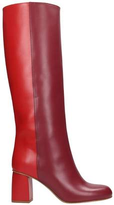 RED Valentino High Heels Boots In Red Leather