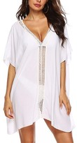 Look Fashion Women's Swimsuit Coverups White - White Cutout-Shoulder Side-Slit Cover-Up