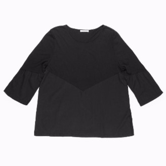 Beaumont Organic Black Ezra Bell Sleeve Top - S - Black