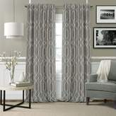 "Devin Textured Geometric Blackout Curtain Panel, 52"" x 95"""