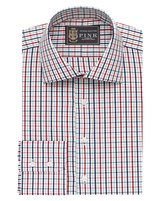 Thomas Pink Lions Reesy Check Athletic Fit Button Cuff Shirt