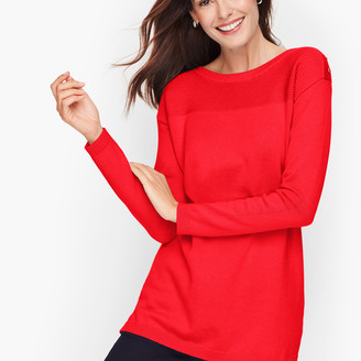 Talbots Contrast Stitch Sweater