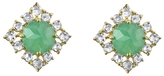 Irene Neuwirth Chrysoprase & Rose Cut Diamond Stud Earrings