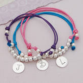 IndiviJewels Personalised Silver Girls Friendship Bracelet