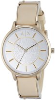 Armani Exchange A|X Women's AX5301 Analog Display Analog Quartz Beige Watch