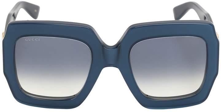 Gucci Gg Logo Glossy Acetate Sunglasses