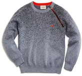 Armani Junior Armani Boys' Asymmetrical Zip Spatter Sweater - Sizes 4-16