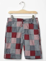 Gap Traditional patchwork flat front shorts