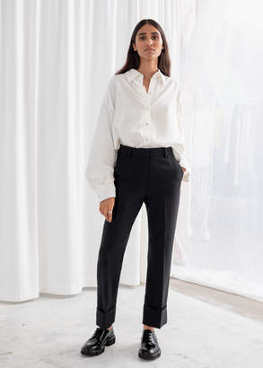 And other stories Tailored Cuffed Hem Trousers
