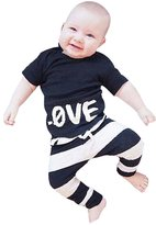 Zhengpin Kids Baby Boys Girls Outfits Clothes T-shirt Tops Pants 2PCS Set