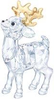 Swarovski Crystal Santa s Reindeer Figurine