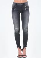 Bebe 4 Zip Heartbreaker Jeans
