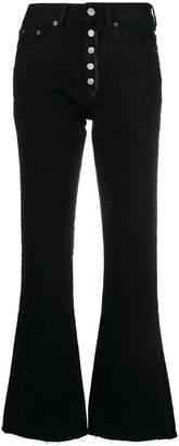 MM6 MAISON MARGIELA flare cropped jeans