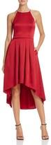 Aqua Satin High/Low Halter Dress - 100% Bloomingdale's Exclusive