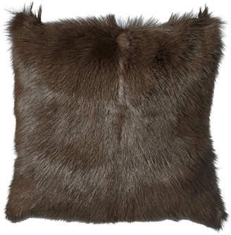 OKA Chyangra Goat Hair Cushion Cover - Sable