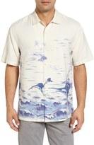 Tommy Bahama Men's Big & Tall Santiago Sailfish Short Sleeve Sport Shirt