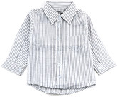 Couture Littlest Prince Boys' Button Down Shirts Gray - Gray Seersucker Button-Up - Toddler & Boys