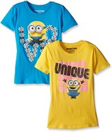 Despicable Me Big Girls' Minion Love and Unique Pack of 2