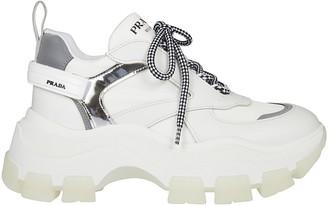Prada Logo Platform Sneakers