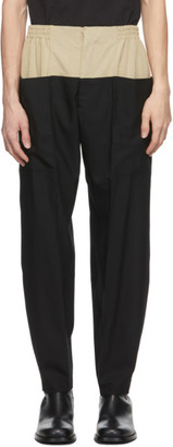 Vejas Beige and Black Dipped Waist Trousers