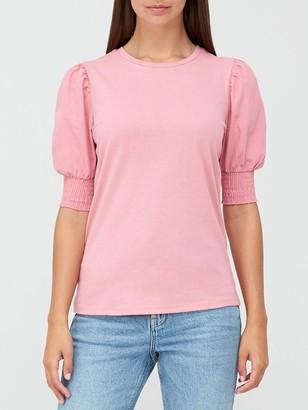 Very Poplin SleeveT-Shirt - Pink