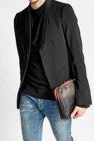 Valentino Zipped Leather Clutch