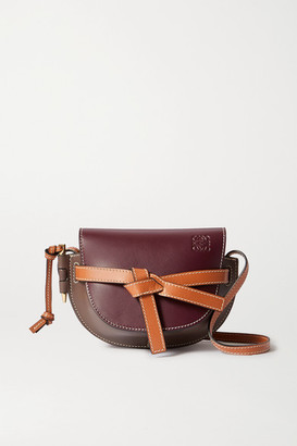 Loewe Gate Mini Color-block Leather Shoulder Bag - Burgundy