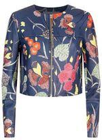 Diane von Furstenberg Printed Leather Jacket