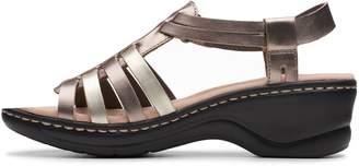 Clarks Lexi Bridge Flat Sandals - Metallic