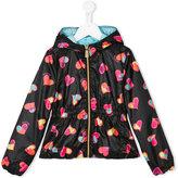 Moschino Kids - heart print rain jacket - kids - Polyester - 8 yrs