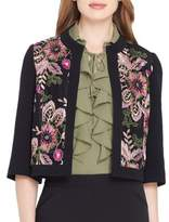 Tahari Arthur S. Levine Floral Crop Blazer