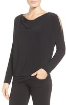 Chaus Women's Embellished Split Sleeve Top