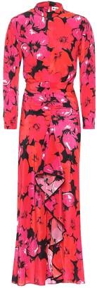 Rixo Dani floral silk maxi dress
