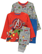 George 2 Pack Marvel Avengers Pyjamas
