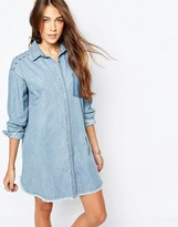 Pull&Bear Denim Shirt Dress