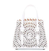 Alaia White leather cut-out mini bag