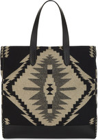 Ralph Lauren Purple Label Navaho easy leather and wool tote