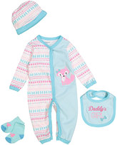 Buster Brown Blue 'Daddy's Girl' Four-Piece Layette Set - Infant