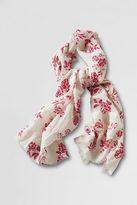 Women's Cotton Linen Floral Scarf