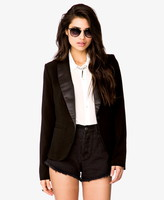 Forever 21 Satin Lapel Jacket