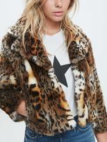 Mother Boxy Crop Jacket - Leopard
