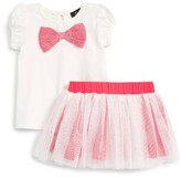 Infant Girl's Bardot Junior Bow Tee & Skirt Set