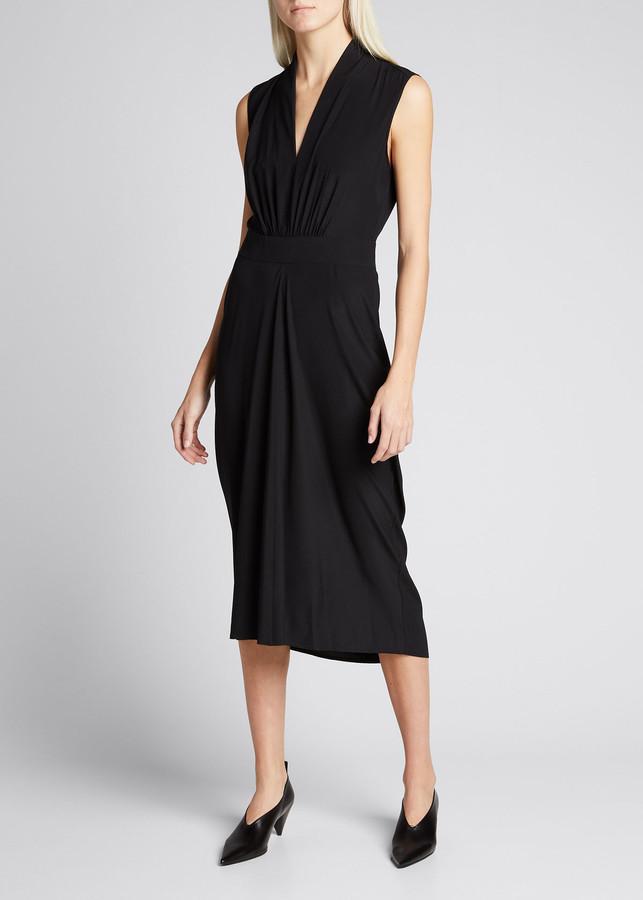 Zero Maria Cornejo Sacha V-Neck Column Midi Dress