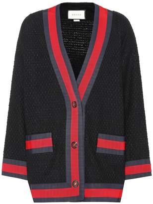 Gucci Cotton-blend twill cardigan