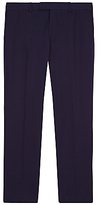 Jaeger Mercerised Cotton Regular Fit Suit Trousers, Navy